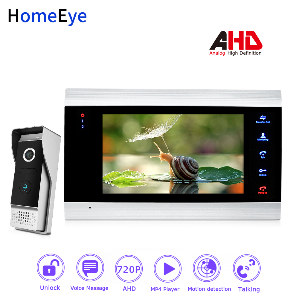 HomeEye 720P AHD Video Door Phone Video Intercom Home Access Control System Waterproof Motion Detection OSD Menu Touch ButtonHomeEye 720P AHD Video Door Phone Video Intercom Home Access Control System Waterproof Motion Detection OSD Menu Touch Button