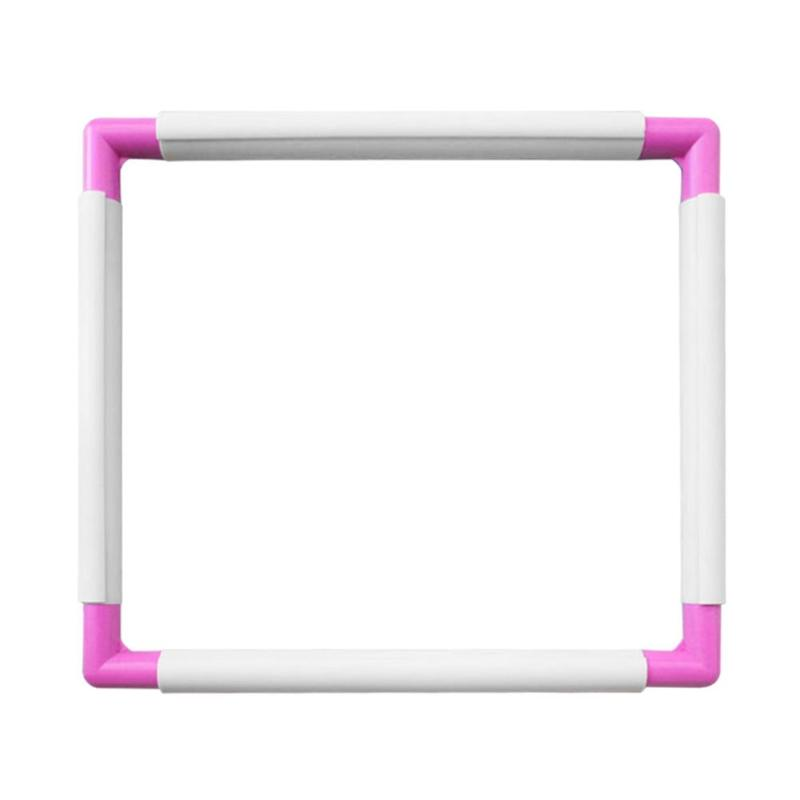 DIY Embroidery Hoop Cross Stitch Craft Tool Sewing Tools Handhold Square Shape Plastic Frame Sewing Craft Accessories DIY Tools