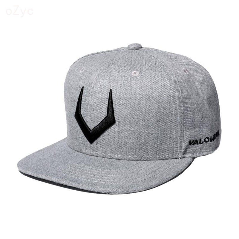 High quality grey wool snapback 3D pierced embroidery hip hop   cap   flat bill   baseball     cap   for men and women gorras hip hop   cap
