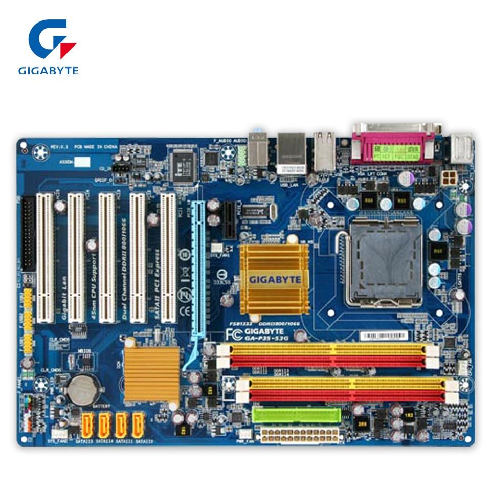 Gigabyte GA-P35-S3G Original Used Desktop Motherboard P35-S3G P35 LGA 775 DDR2 8G SATA2 ATX g31 ga g31 s3g ddr2 a 775 ddr2 usb2 0 vga motherboard integrated graphics 100% tested perfect quality