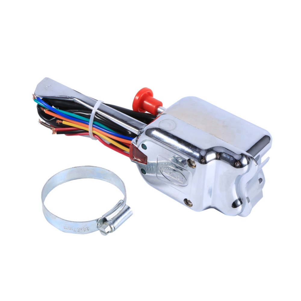 Universal Street Hot Rod Chrome Turn Signal Switch For Ford 12V Street Rod Turn Signal Switch Turn Signal Switch