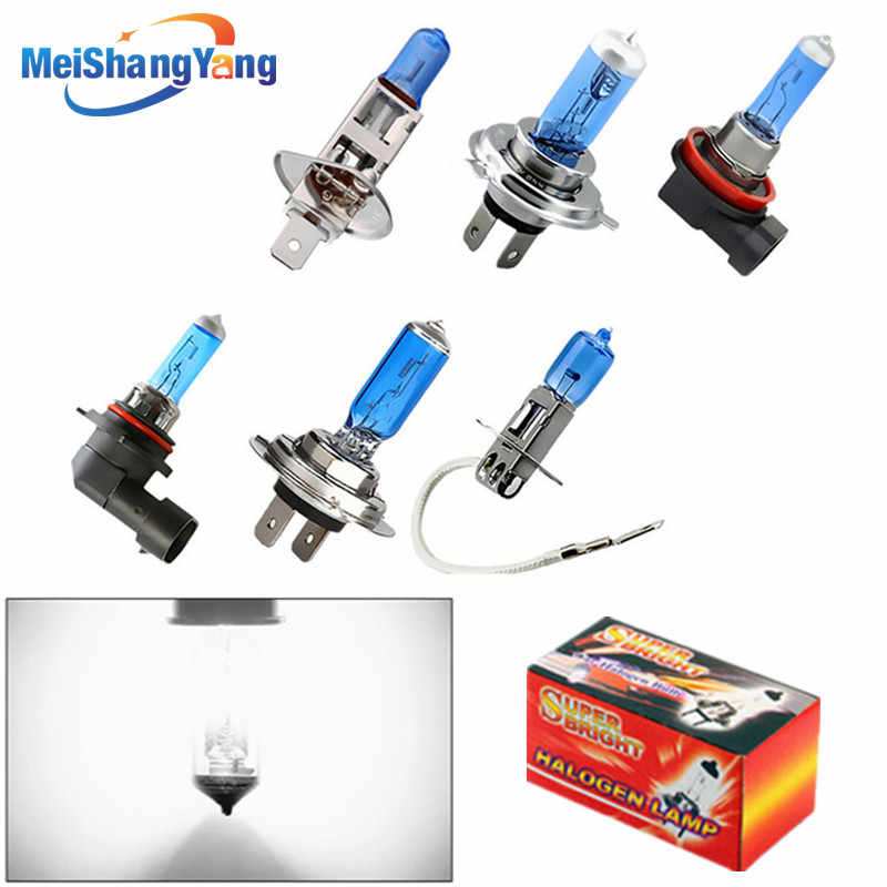 12V 24V H1 H3 H4 H7 H8 H9 H11 HB3 HB4 9005 9006 55W 100W 5000K Super Bright White car halogen lamp bulb Headlight Fog Lights