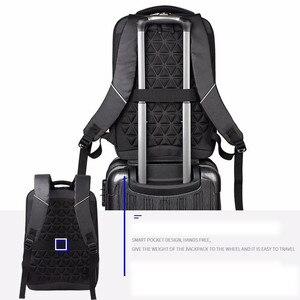 Image 4 - Sacs à dos hommes Premium Anti vol ordinateur portable école voyage sac à dos étanche avec Port USB