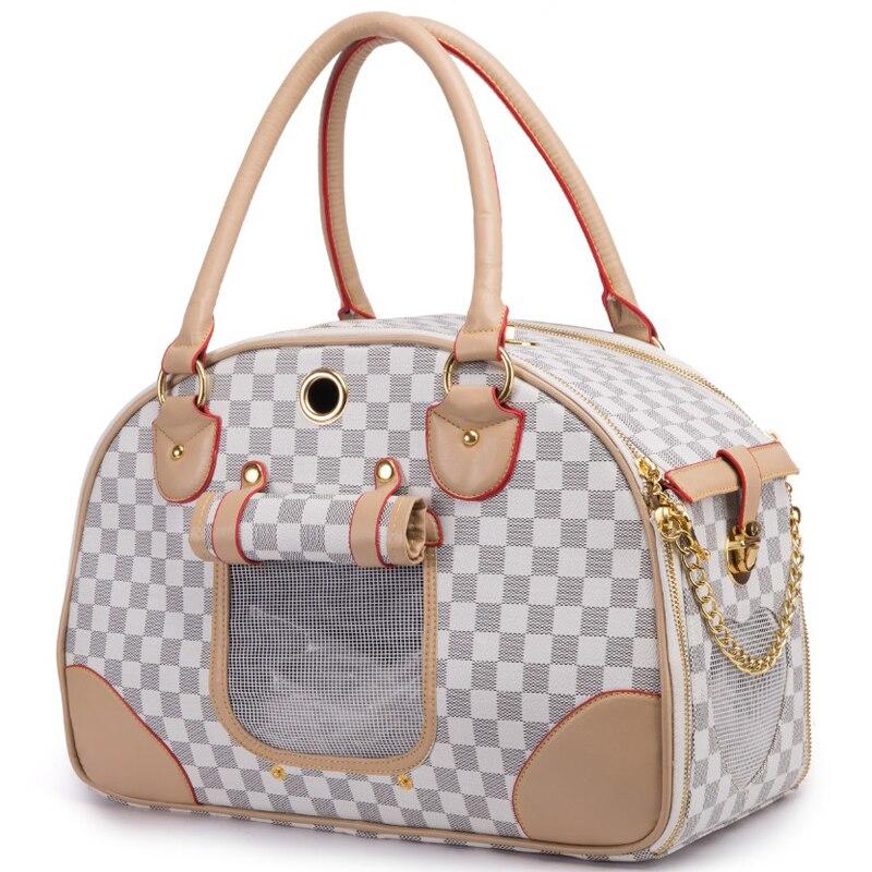 Fashion Pet Dog Carrier PU skórzane nosidełka dla psów luksusowe szczenięta Cat Carrier Tote Bag torebka na zewnątrz podróże Walking Hiking