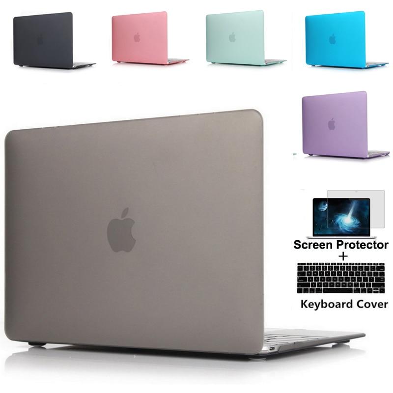 Para novo macbook pro 13 15 caso modelo a1706 a1707 com barra de toque a1708 sem barra toque claro cristal fosco caso duro a2159