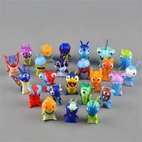 New Slugterra 24 Pcs Cute Anime Slugterra Action Figure Toys 5cm Monster Animal Model Mini Dolls