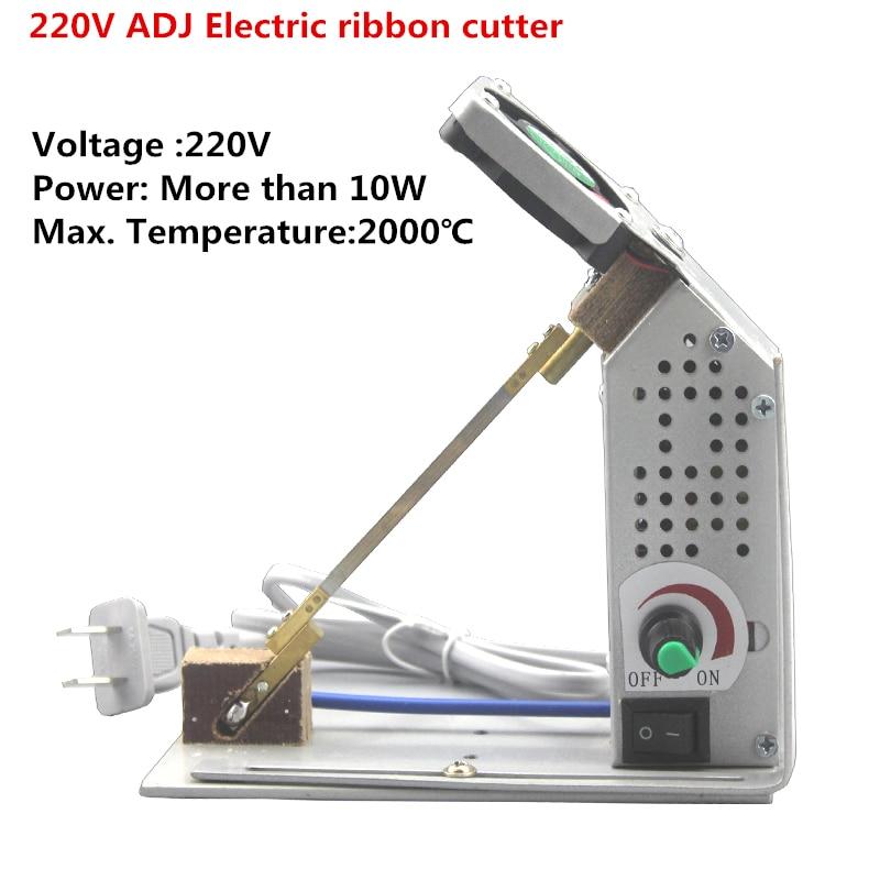 цена на 220V ADJ Electric ribbon cutter Rubber belt Trade Marks Lace Magic sticker nylon satin ribbon heat cutting machine Y