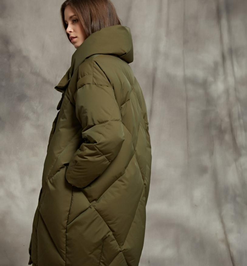 Le De Manteau Qualité green Noir D'hiver Réel Vert Fourrure D'oie 90 Luxe Haut Black Vers Chaud Wq125 Bas Femme Duvet Épais Manteaux Goose Col qw4vHxtXp