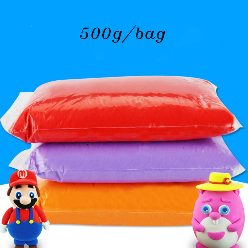 500 g/saco lasunes luz plasticina brinquedo argila polímero de secagem ar argila macia modelagem argila brinquedo educacional diy slimes para crianças
