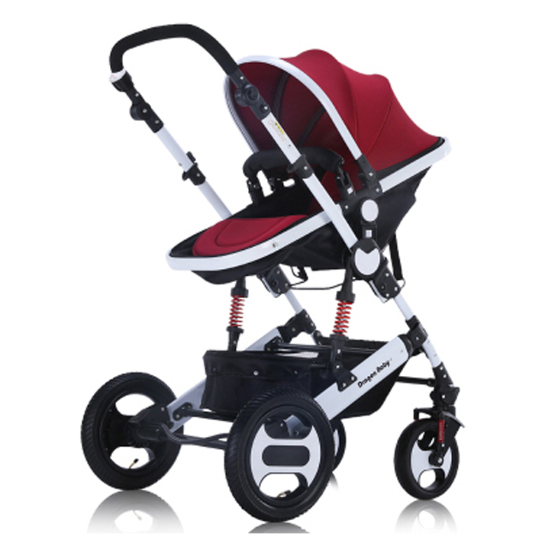 Russia free shipping baby stroller high landscape can sit lie and winter baby two-way shock trolley portable folding children baby stroller high landscape can sit and lie trolley high quality folding baby cart children s pram
