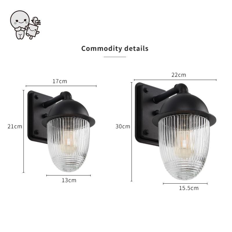 Extérieur étanche Mini noir en aluminium verre abat jour applique luminaire moderne applique luminaire pour balcon jardin E27 ampoule - 4