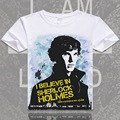 Anime Unisex Tops Tee Sherlock tshirt Sherlock Holmes shirt men fashion t-shirts