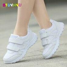 أحذية مدرسية للأولاد أحذية رياضية للبنات أحذية رياضية بيضاء للأطفال قابلة للتنفس أحذية ركض للأطفال غير رسمية ناعمة مانعة للانزلاق 25 41