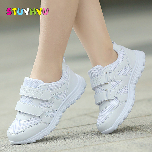 Boys school shoes girls sneakers Childrens white sports shoes breathable running shoes kids non slip soft casual sneakers 25 41
