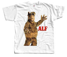 Alf V10,tv show poster, T-SHIRT (WHITE,AZURE,PINK,K.GREEN) all sizes Cartoon t shirt men Unisex New Fashion tshirt(China)
