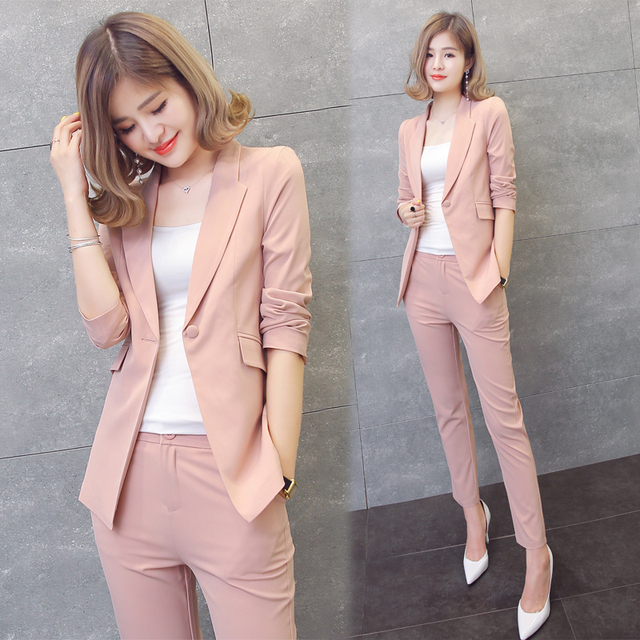 a3cedcc3ce Chiffon small suit female short section 2019 spring and autumn new jacket  fashion leisure ol temperament