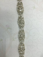 Free shipping 5yards/lot wide Rhinestone applique trim, bridal crystal trim,crystal rhinestone mesh trimming