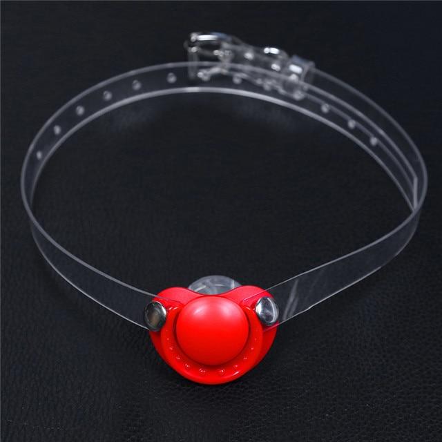 Silicone souple de sécurité bouche ouverte Gag bdsm Bondage restrictions jouets sexuels pour les femmes esclave Gag avec des trous ouverts pour les Couples