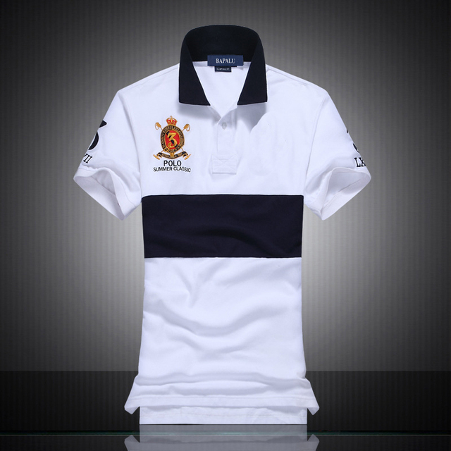 2016 Summer new polo shirt Slim Leisure men's polo shirt men's 100%Cotton Business embroidered polo shirt European American pony