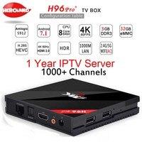H96 Pro Plus + Android 7.1 TV Box 3G/32G Amlogic S912 Octa rdzeń 64Bit 2.4G/5G Wifi 4 K BT4.1 Odtwarzacz Multimedialny HD Dekoder IPTV Box