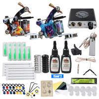 Beginner Tattoo Kit Mini Tattoo Power Supply Tattoo Machine Set Grips Needles Tips Supplies