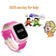 Q60 A3 Smartwatch Llamada SOS Reloj Inteligente Niños Bebé Niño GPS Tracker Localizador Finder Posicionamiento Seguro Anti-perdido Monitor reloj de pulsera
