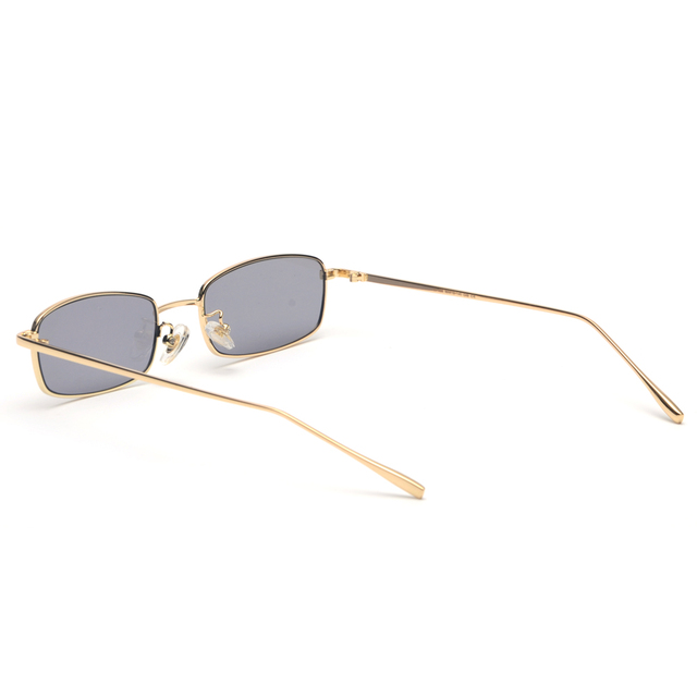 Small Rectangle Sunglasses with Metal Frame