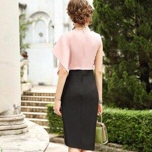 Image 3 - 2019 新優れた品質女性パーティードレスプラスサイズ女性のセクシーなファッションノベルティドレス非対称ノースリーブヴィンテージドレス