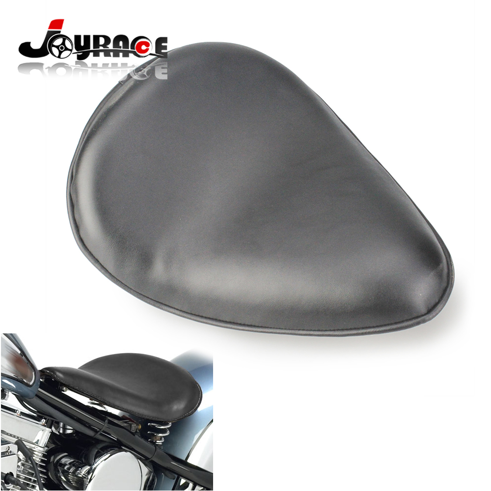 Synthetic Leather Motorcycle Solo Slim Seat Cushion for Harley Sportster Nightster Bobber DHL Shipping