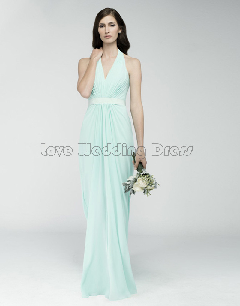 Elegant Halter Long font b bridesmaid b font font b dresses b font Off The Shoulder