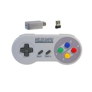 Image 2 - Wireless Gamepads 2.4GHZ Joypad Joystick Controller for SNES Super Nintendo Classic MINI Console remote Accessories