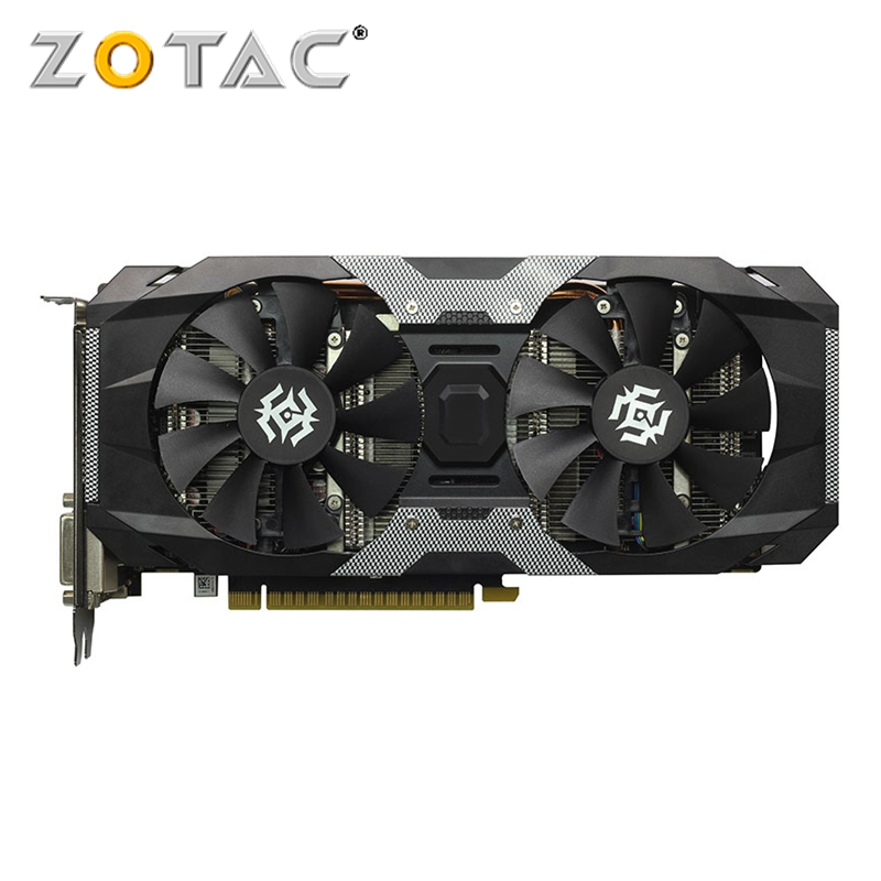 ZOTAC GTX 1050Ti-4GD5 x-gaming OC carte vidéo GPU GTX1050 Ti 4 GB OC cartes graphiques pour nVIDIA GTX1050Ti écran d'overclock utilisé