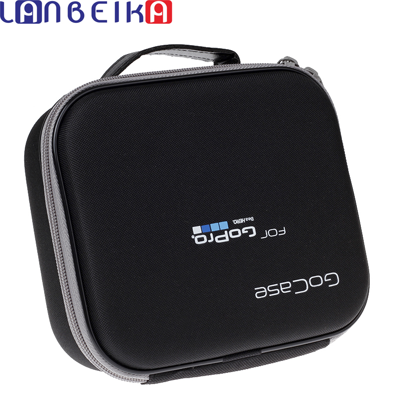 LANBEIKA Für Gopro Fall Zubehör Medium Größe Eva Tasche Box für Gehen Pro Hero 6 5 4 3 + SJCAM SJ4000 SJ6 SJ7 M20 SJ5000 Eken