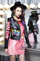 Melinda Style 2015 new women autumn leather jacket fashion letter printing pattern leather coat outwear free shipping