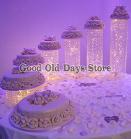 6pcs Deluxe Master decoration Luxury Birthday gift table centerpiece wedding cake stand Party Cake Display Cake cupcake display