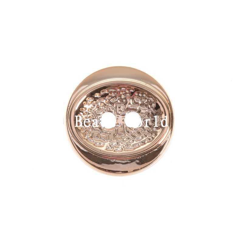 ୧ʕ ʔ୨100 unids oro rosa patrón 2 agujeros resina Costura Botones ...
