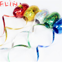 6pcs 5mmx10m Foil Balloon Ribbon Birthday Wedding Holiday Party Decoration Air Wrapping Prism Tape Rope Globos
