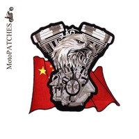 Handmade Embroidered Make Your Own Iron On Custom Uniform Applique China Eagle Patch Back MC Patches For Jackets Motorcycles