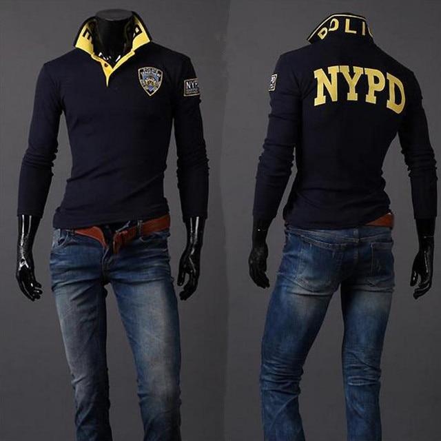 2016 blusas Ввс Aeronautica Militare Полный Рубашка поло С Длинным Рукавом мужская рубашки Бренд Рубашки Моды печати вышивка