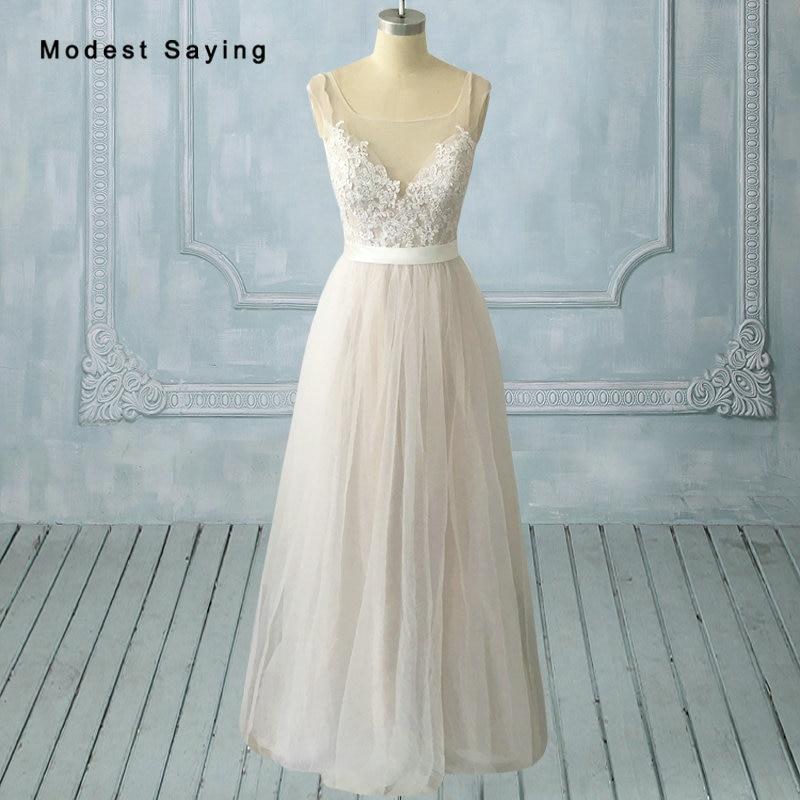 Aliexpress Com Buy Vestido De Noiva 2017 A Line Beach: Aliexpress.com : Buy Elegant Ivory A Line Lace Wedding