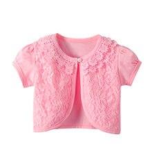 5356a58630cc Niños Niñas de encaje Cardigan bebé manga corta chaquetas para La chica de  la fiesta de la boda del cabo abrigo vestido de los n.