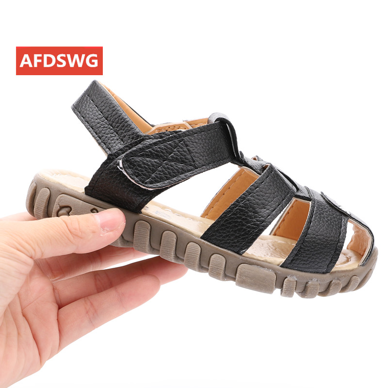 Mother & Kids ... Children's Shoes ... 32785906171 ... 2 ... leather sandals boys 2020 100% soft leather in summer the new boys and girls children beach shoes  kids sport sandals princess s ...