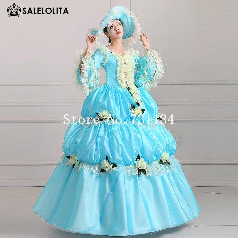 kleider marie antoinette blue maskerade 2016 rokoko retro prom pu kost mittelalterlichen prinzessin viktorianischen sky palace dxtQrBCsh