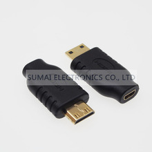 Mini HDMI C male to Micro HDMI D Female Socket Adapter HDMI JACK