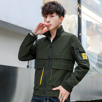 Zogaa 2019 New Spring Autumn Fashion Korean Style Men's Coat Clothes Casual Cotton Tooling Men's Popular Jacket Hot Sale