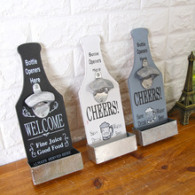 Wall Mounted Beer Bottle Opener Practical Coffee Shop Bar Barbecue Hot Pot Restaurant Pendant Decoration
