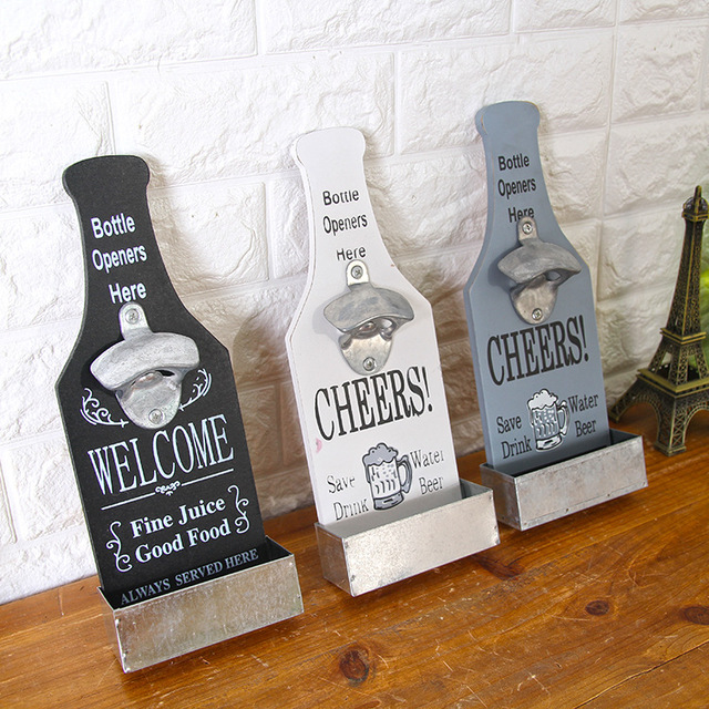 Wall Mounted Beer Bottle Opener Practical Coffee Shop Bar Barbecue Hot Pot Restaurant Pendant Wall Decoration