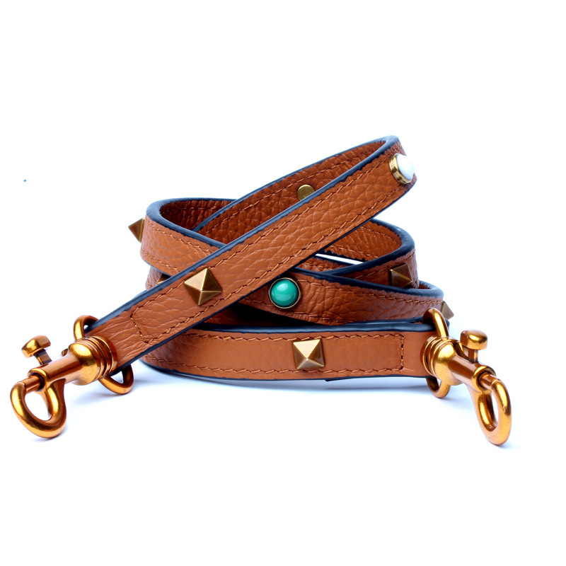Fashion Leather Strap Bag Women Shoulder Strap Colorful Rivet Bag Straps Female Handbag Straps Bag Accessories Purse Belt