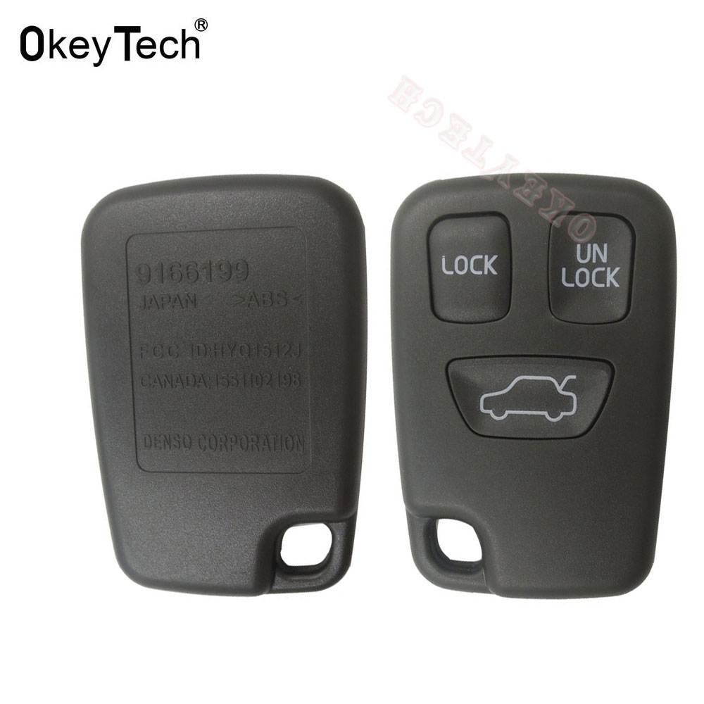 OkeyTech 3 Buttons Remote <font><b>Key</b></font> Shell Case Cover For <font><b>Volvo</b></font> V70 V40 <font><b>S40</b></font> S70 C70 1998-2005 Car <font><b>Key</b></font> Case <font><b>Replacement</b></font> Accessories image