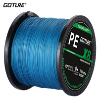 Goture 8 STRANDS 500M PE Braided Fishing Line Super Strong Japan Multifilament Line Jig Carp Fish